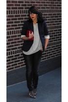 Victorias Secret blazer - lux uo - Silence & Noise jeans - Dolce Vita shoes - Ko