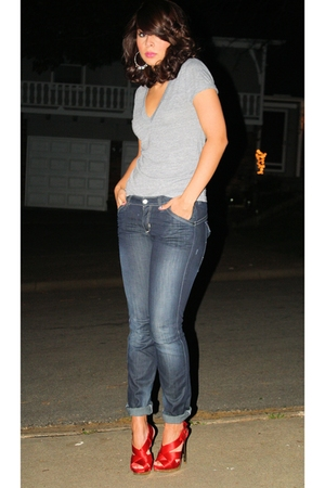 American Apparel t-shirt - H&M jeans - Jessica Simpson shoes