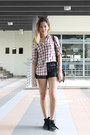 Cotton-zara-shirt-leather-bag-sequin-shorts