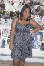 heather gray cheetah print Jcpenny dress