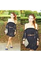 vintage dress - Zara shoes - H&M bag - pull&bear belt