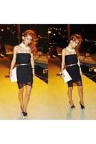 dress - Ebay bag - collar BLANCO accessories - Zara heels