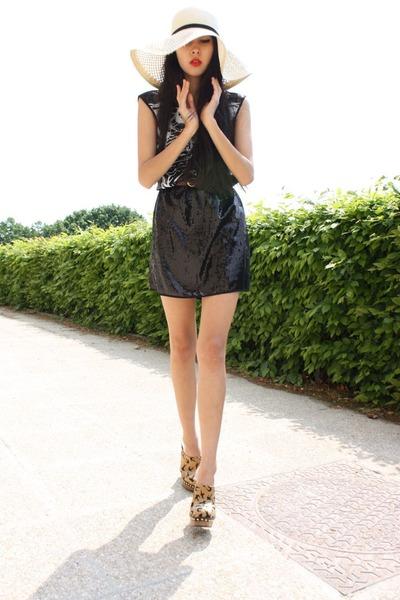 vintage belt - Miu Miu clogs shoes - Rodarte for Target dress