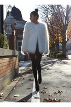 white faux furs