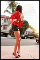 Mango shorts - patent pointed Stella McCartney heels
