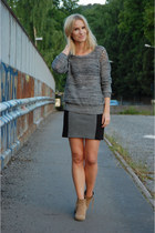 mini DIY skirt - Bianco boots - knit IRO sweater