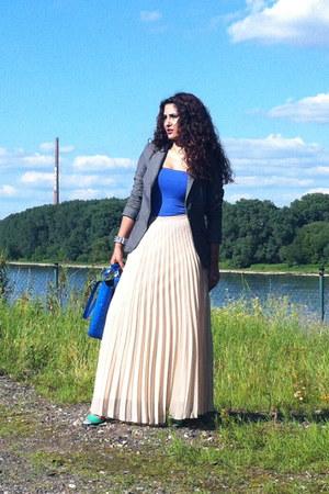 Zara skirt - Zara blazer - Mango top