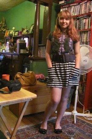gray Forever21 skirt - black Dollhouse shoes