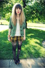 Black-foxy-jeffrey-campbell-shoes-forest-green-from-moms-closet-jacket-musta