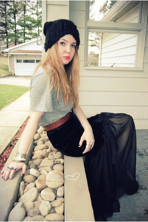 DIY skirt - Jeffrey Campbell shoes - H&M hat - vintage belt