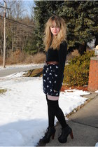 navy Nasty Gal dress - black Jeffrey Campbell shoes - black American Apparel soc