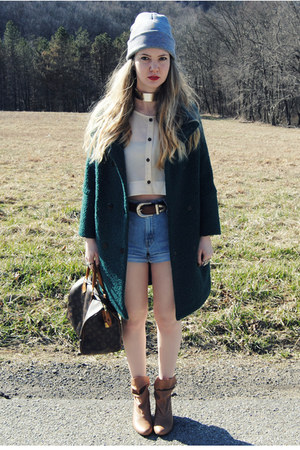 teal gifted She Inside coat - camel Urban Outfitters boots