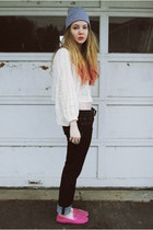 UNIF flats - gifted Lucky Brand jeans - gifted Sugar Lips Apparel blouse