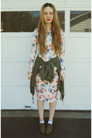 army green gifted yeswalker boots - cream gifted Mary Jane Fashion dress