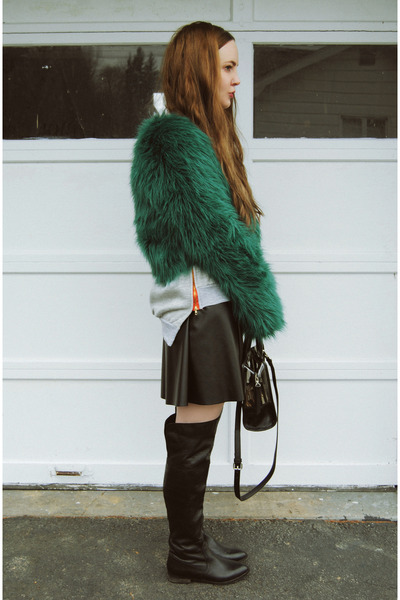 teal Motel Rocks coat - black gifted shoemint boots