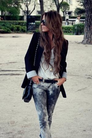 Zara blazer - Mango jeans - Zara t-shirt - Pimkie purse - H&M necklace - Gucci g