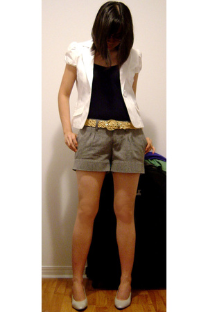 Guess blazer - H&amp;M top - H&amp;M shorts - Nine West shoes