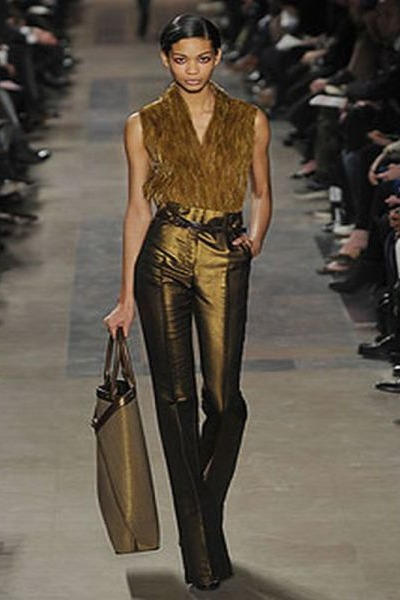 gold Akris pants