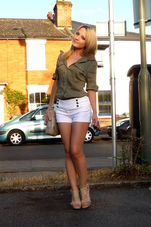 white Jane Norman shorts