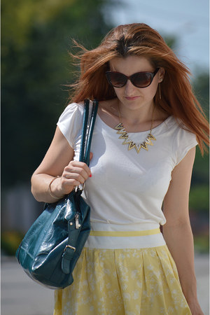 nissa skirt - Accesorize bag - new look necklace - miniprix top