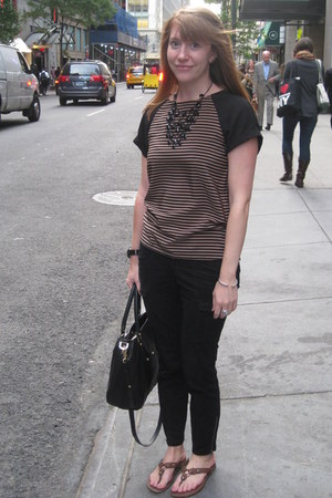 Zara top - tory burch bag - Old Navy pants