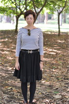 Zara top - H&M belt - Zara skirt