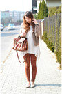 Beige-bershka-jacket-white-h-m-sweater-brown-h-m-bag-bronze-bershka-pants