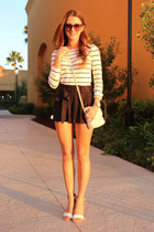 black Jessica Simpson shorts - cream Nine West bag