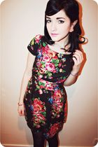 black floral new look dress