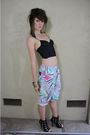 Paradise-style-hawaii-shorts-black-forever-21-boots
