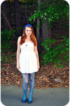 white Forever 21 dress - blue Target shoes