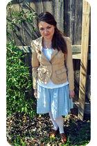 brown White House Black Market jacket - blue Target skirt - white Target tights