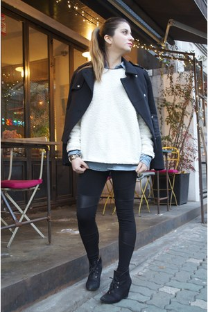 suede Zara shoes - leather accents Zara jacket
