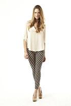 chiffon blouse wwwDivaNYcom blouse - wwwDivaNYcom leggings