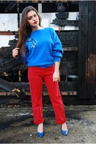 red 501 vintage Levis jeans - blue DollsMaison jumper