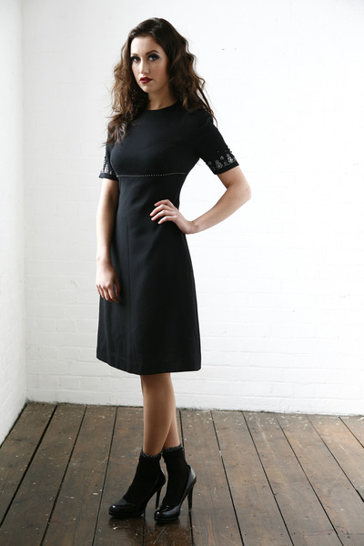 black DollsMaison dress - black cotton  lurex Primark socks