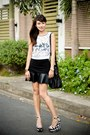 White-zara-shoes-black-alexander-wang-bag-black-forever-21-skirt