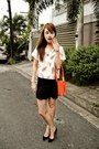 Orange-chloe-bag-black-mango-heels-black-ihana-skirt