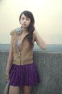 Camel-forever21-vest-deep-purple-forever21-skirt-light-pink-forever21-t-shir