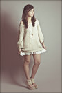 White-forever-21-dress-ivory-wholesale-dressnet-sweater-white-cross-necklace