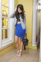 ihana store skirt - CO by Cotton On jacket - balenciaga bag - Topshop top