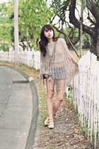 brown Chloe bag - camel go jane boots - blue Topshop shorts