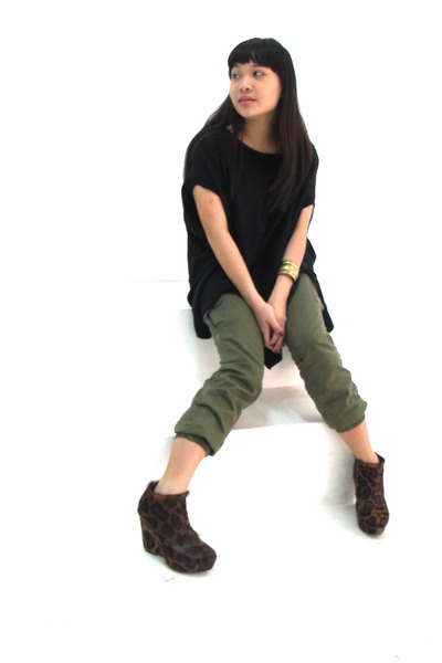 army green Penshoppe pants
