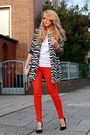 Black-bcbg-max-azria-shoes-black-zebra-choies-coat-ruby-red-h-ampm-jeans