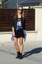 H&M accessories - Zara boots - h&m divided jacket - Stradivarius shirt