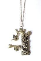 tree trunk Doris Apparel necklace