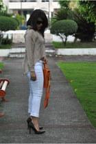 Sweet sweater - Rue 21 jeans - Rampage bag - Qupid heels