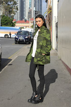 camo dragonberry jacket - Windsor Smith boots - jeans Nudie Jeans jeans