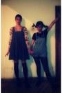 Rag-doll-diy-dress-polka-dot-unknown-brand-tights-retro-floral-blouse
