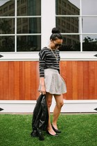 off white Forever 21 skirt - Target jacket - black Old Navy shirt